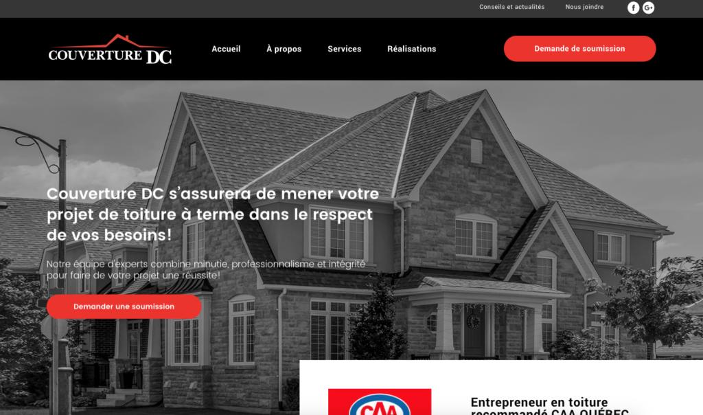 Maquette de l'accueil du nouveau site Web
